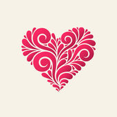 Heart icon from swirl shapes — Stockvector