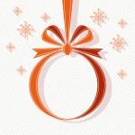 Christmas ball of red ribbon — Stock Vector #59633439