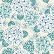 Seamless floral cute blue pattern — Stock Vector #59634263