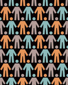 Seamless pattern with people figure — Vector de stock
