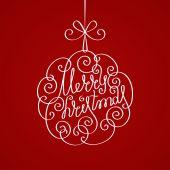 Kalligrafische decoratie van Kerstmis — Stockvector