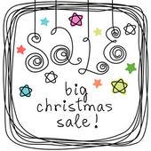 Doodle banner - Big Christmas Sale! — Stock Vector