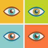 Set of eye icon — Stock Vector