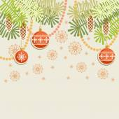 Christmas vintage background — Stock Vector