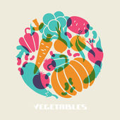 Illustration of vegetables — Stock Vector