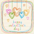 Doodle Valentine's Day card — Stock Vector #59749295