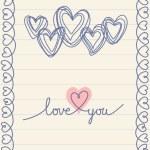 Doodle heart card — Stock Vector #59749825