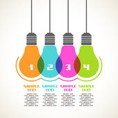 Color light bulbs — Stock Vector