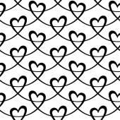 Elegant seamless mönster med hjärtan — Stockvektor