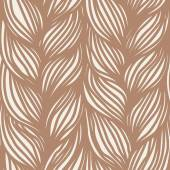 Seamless pattern with hairstyle of brown plaits — Vector de stock
