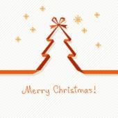 Christmas tree of paper ribbon — Stock Vector