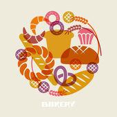 Baked goods icons — Stok Vektör