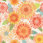 Floral cute seamless pattern — Stock Vector