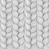 Seamless pattern with interweaving of braids — Stock Vector