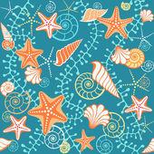 Seamless sea pattern — Stock Vector