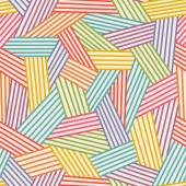 Color abstract linear seamless pattern — Vettoriale Stock