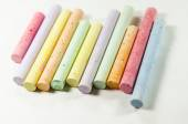 Bright colored crayons — Stock Photo