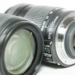 Camera lens isolated on white background — Stock Photo #62718887