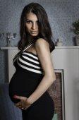 Beautiful and elegant pregnant woman portrait — Stock Photo