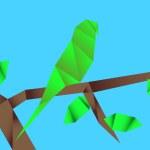 Origami parrot — Stock Vector #58205383