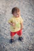 Cute Baby Girl walking — Stock Photo