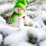 Happy snowman on snow — Stock Photo #64094517