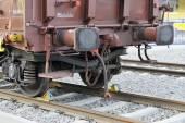Wheels freight wagon — Stock Photo