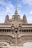 Miniature copy of Angkor Wat Temple at Temple of Emerald Buddha — Stock Photo