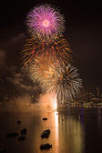 Pattaya International Fireworks Festival — Stock Photo