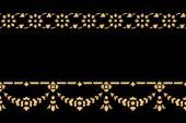 Golden thai style pattern traditional art — Stock Photo