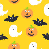 Seamless Pattern. Halloween — Stock Vector