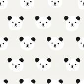 Seamless Pattern. Cute Panda — Stock vektor