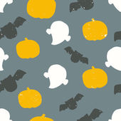 Seamless halloween pattern with grunge texture — Stockvektor