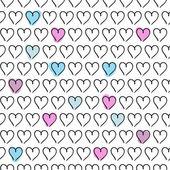 Heart valentine  vector background — Stock Vector