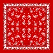 Red Paisley Bandana simple pattern — Stock Vector