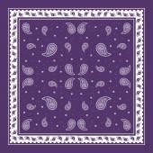 Purple Paisley Bandana simple pattern — Stock Vector
