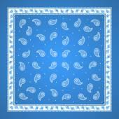Blue Paisley Bandana simple pattern — Stock Vector