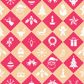 Seamless Pattern : Christmas Objects — ストックベクタ