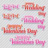 Αγάπη, γάμος και το κείμενο του Αγίου Βαλεντίνου — Διανυσματικό Αρχείο