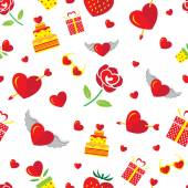 Love Icons Seamless Pattern — Stock Vector