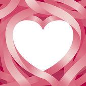 Heart Shape and Ribbon Background — Vecteur