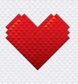 Heart Shape Mosaic Style — Stock Vector