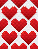 Heart Shapes Seamless Pattern Mosaic Style — Vector de stock