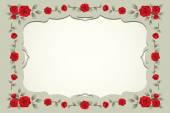 Roses Vintage Square-Shaped Frame, Border — Stock Vector