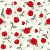 Rosas Vintage padrão sem emenda — Vetor de Stock