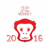 Year of Monkey 2016 — Stock Vector