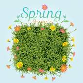Flowers Spring Season Background — Stock Vector