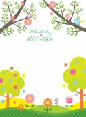 Spring Season Background — Stock Vector