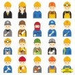 Worker, Craftsman, Symbol Icons Set — Vector de stock  #65128515