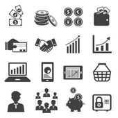 Business and E Commerce Icons Set — Stock Vector